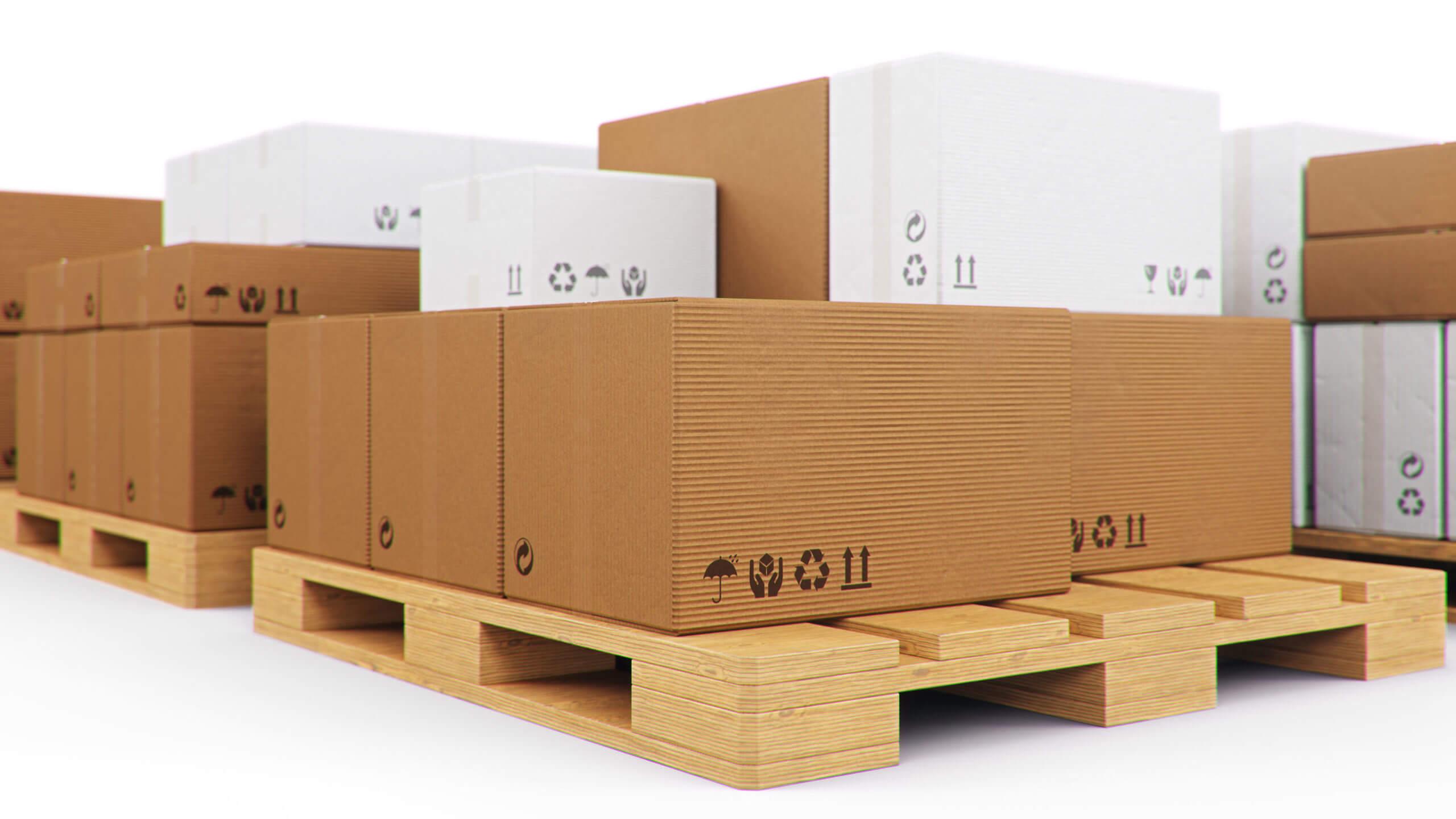 Palettenkartons und Containerkartons